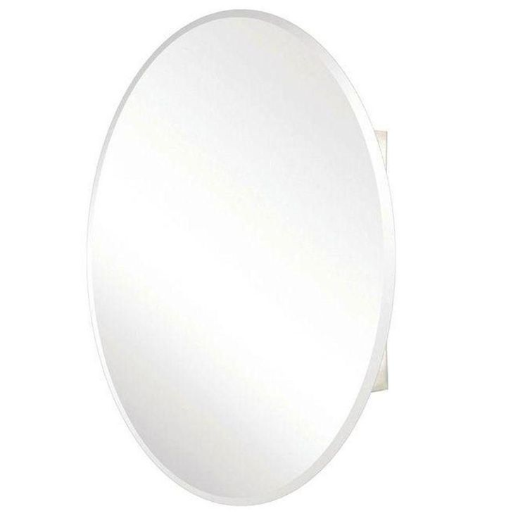 Pegasus 24 in. x 36 in. Recessed or Surface Mount Medicine Cabinet with Oval Beveled Mirror-SP4583 - The Home Depot