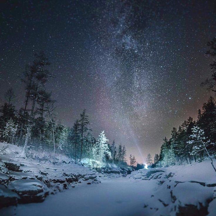 Этот удивительный мир...   📷Ночная Сибирь.