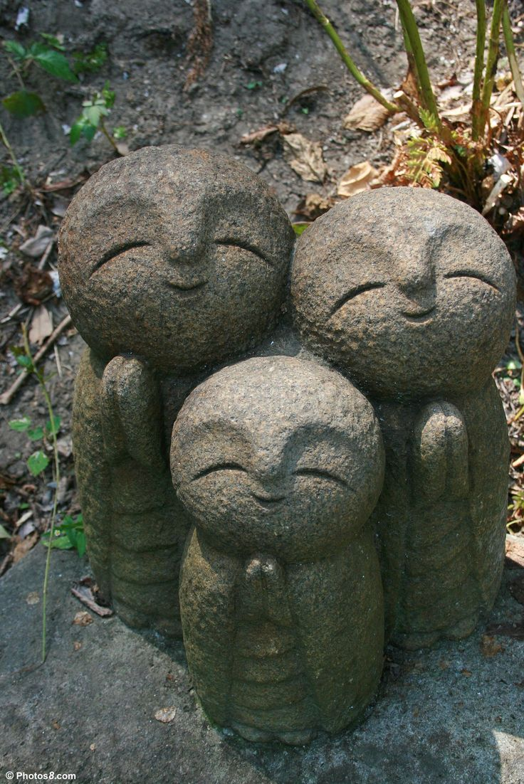 Jizo was originally Bosatsu (Bodhisattva) of Buddhism who stood between the world of reality and the world of the dead and saved those who were on their way to the netherworld. JIzo is the protector of children.