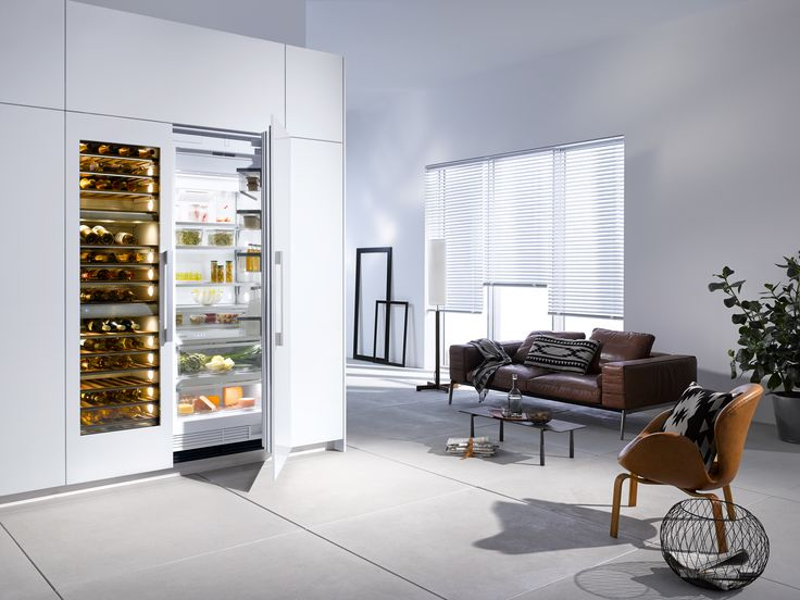 Making the most of available space can lead to embracing open plan living, as seen here featuring the Miele MasterCool KF1901 Vi Fridge #kitchendesign