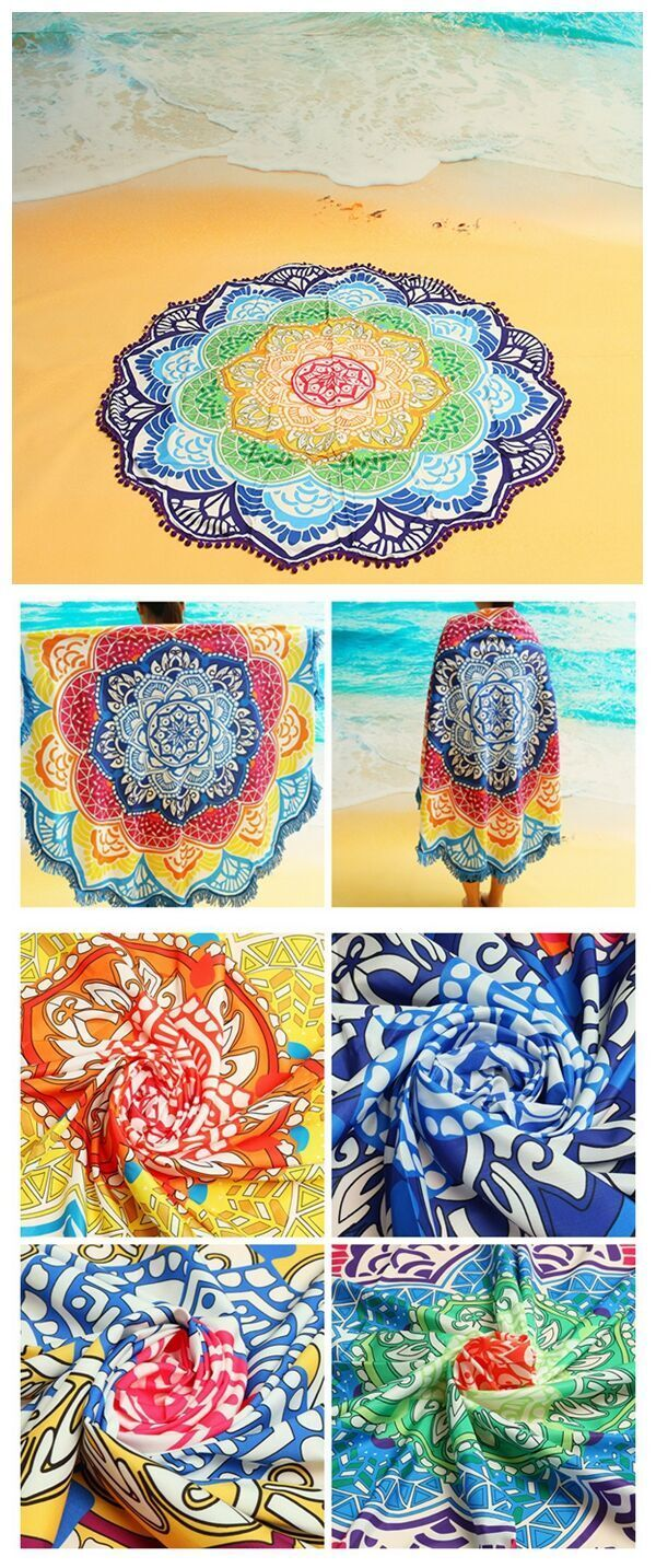 Lotus shape beach towel