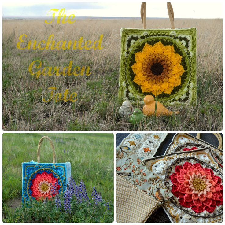The Enchanted Garden Tote Pattern By Courtney Laube