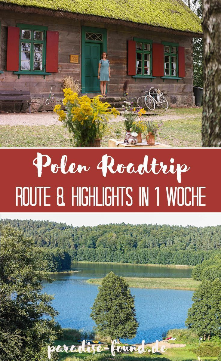 Route und Tipps für 1 Woche abwechslungsreicher Polen-Roadtrip aus der Region E …   – Reisen – Europa