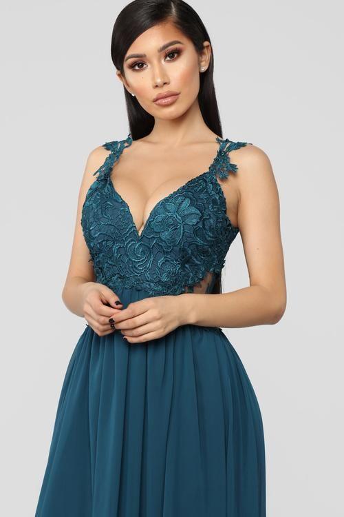 aa35387fe721 Pure Beauty Crochet Gown - Emerald | Dress in 2019 | Dresses ...