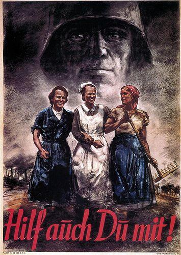 Compromiso de las mujeres con la guerra, 1941.