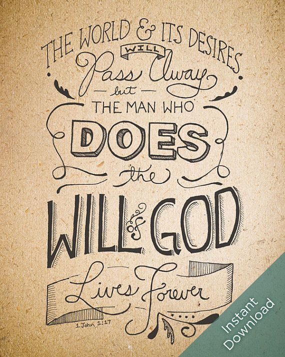 Will Of God Printable  Paper  Scripture Art  Hand by WORDandDEED, $10.00  LOVE THIS!!