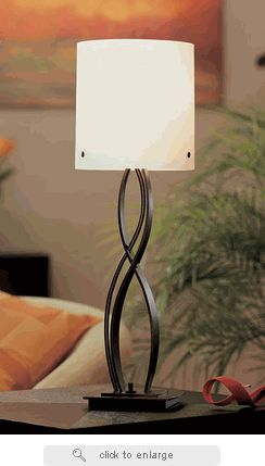 Hubbardton forge wrought iron table lamp