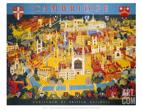 Cambridge Published by British Railways Art Print at Art.com