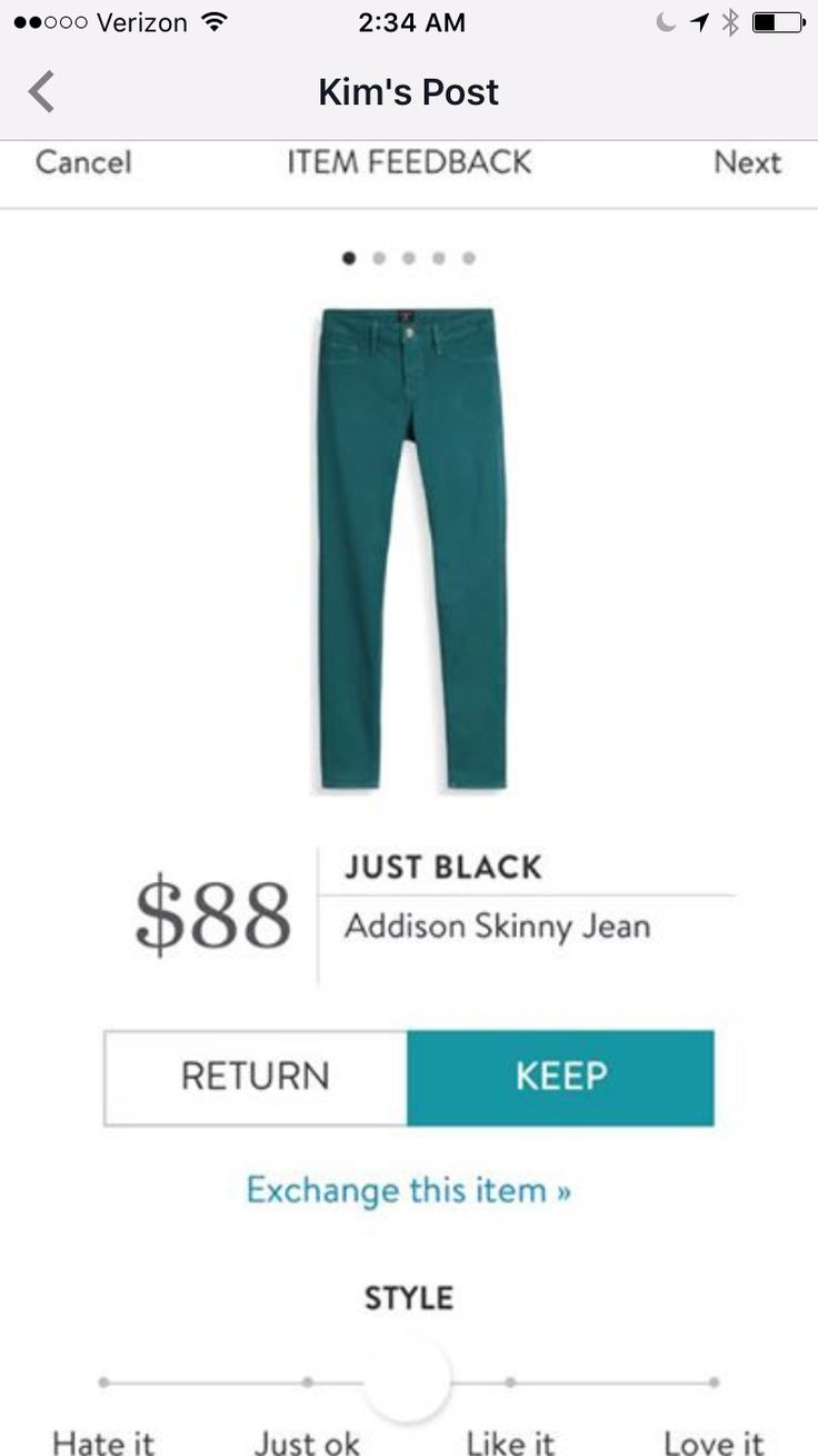 Love the teal color of these jeans.  I need these.