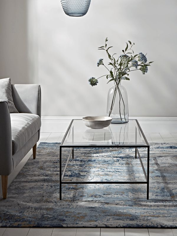 Burnished Gold & Glass Coffee Table