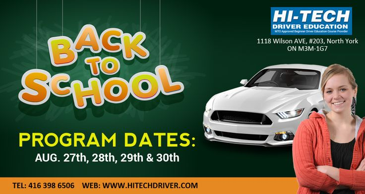 Learn the driving in August special classes. Call at : (416) 398-6506 and visit our site: http://www.hitechdriver.com/ #cardrivingschool #drivingschool