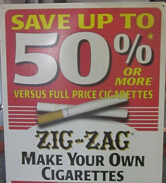 Zig Zag Cigarettes Advertising Tobacco Store Tin by LeftoverStuff, $40.00