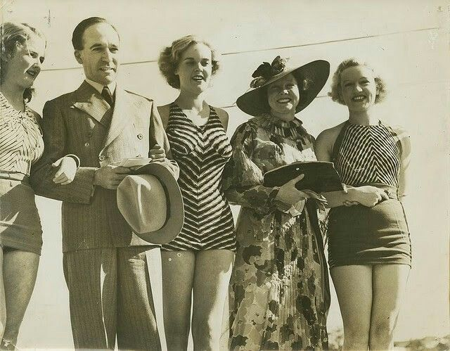 Judging of the Sirens of the Surf competition, Gold Coast, 1930s