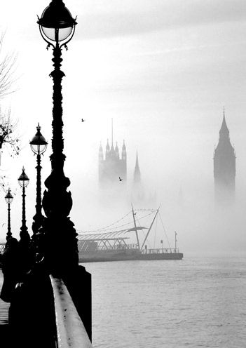 London Fog.  Famous the world over, though it rarely occurs these days and is a nothing more than a memory of our heavy industrial past.