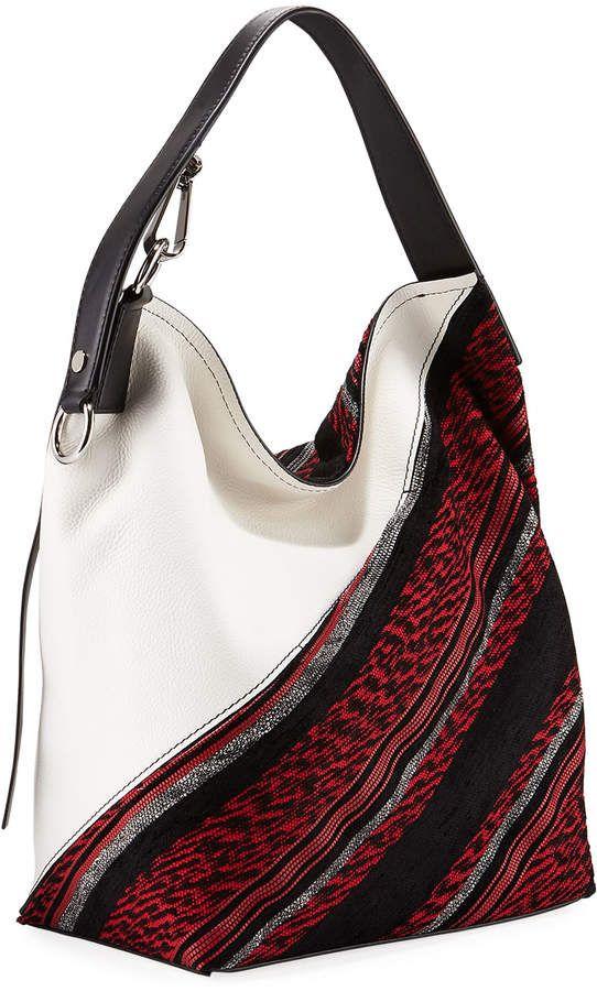 e717e5875d Proenza Schouler Medium Woven-Fabric/Leather Hobo Bag #Medium#Woven#Proenza