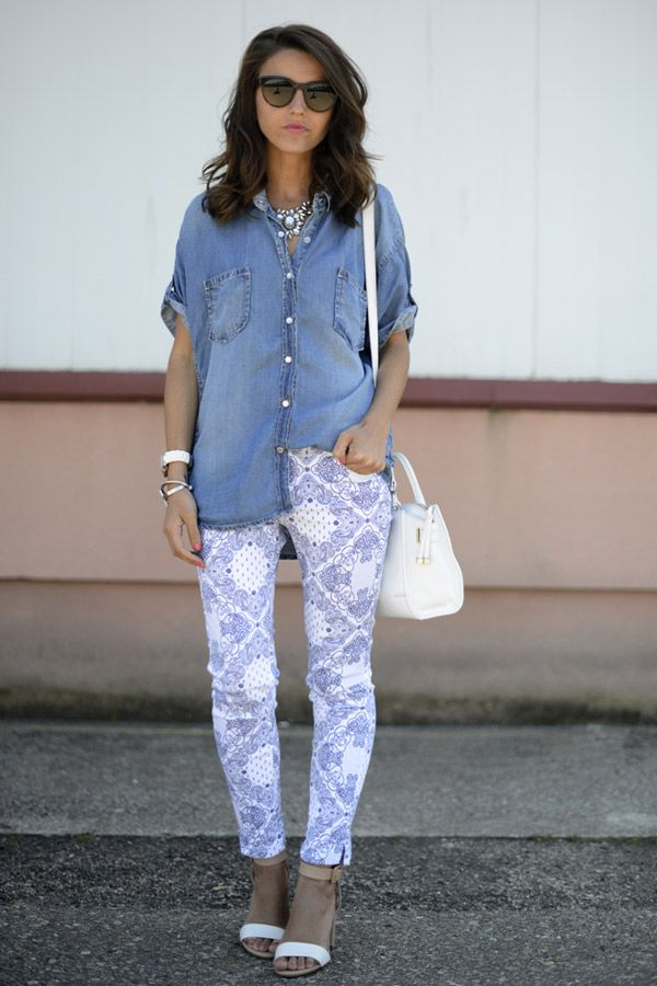 Streetstyle: Print Jeans