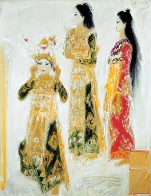 Three bali dancer by Srihadi