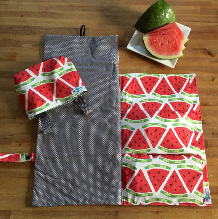 I'm trying hard to get into the Christmas spirit this year. Feel more like summer, sun and  This is the last set of nappy wallet and pram caddy in this adorable fabric. Ready to ship! #schwuppdiwupp_ #nappyclutch #nappywallet #watermelon #babygift #babyshowergift #brisbanemade #australianmade #handmade #lastminutexmasgifts