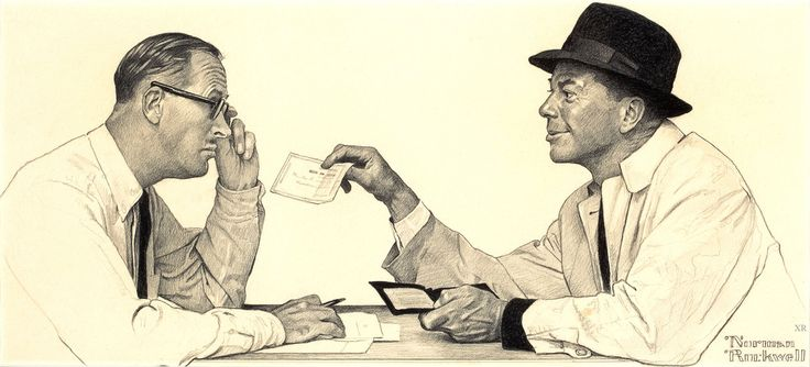 ... 'two men conversing' - Norman Rockwell | by x-ray delta one