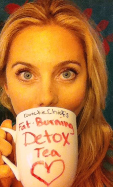 """Fat-Burning, Metabolism-Boosting, Detox """"Special Tea"""" Recipe:  1 mug hot water - adds to your 8 daily cups of water, fills you up and flushes you out  1 entire Lemon (squeezed, then scrap out the fabulous fibrous pulp)- natural fat burner  1-3 shakes Cinnamon powder- helps regulate blood sugar levels and curb hunger  1-3 shakes Cayenne Pepper powder- natural fat-melter"""