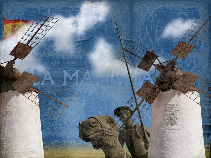image editing - the battle of Don Quixote against wind mills