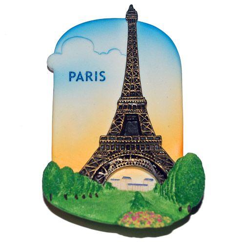 Resin Fridge Magnet: France. Eiffel Tower in Paris