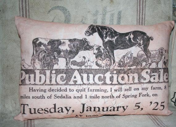 1925 Farm Auction Sedalia Missouri Mo by dancingbumblebeecott, $25.00