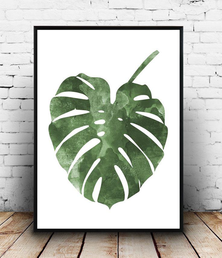Cartel de Monstera arte botánico diseño nórdico boho chic