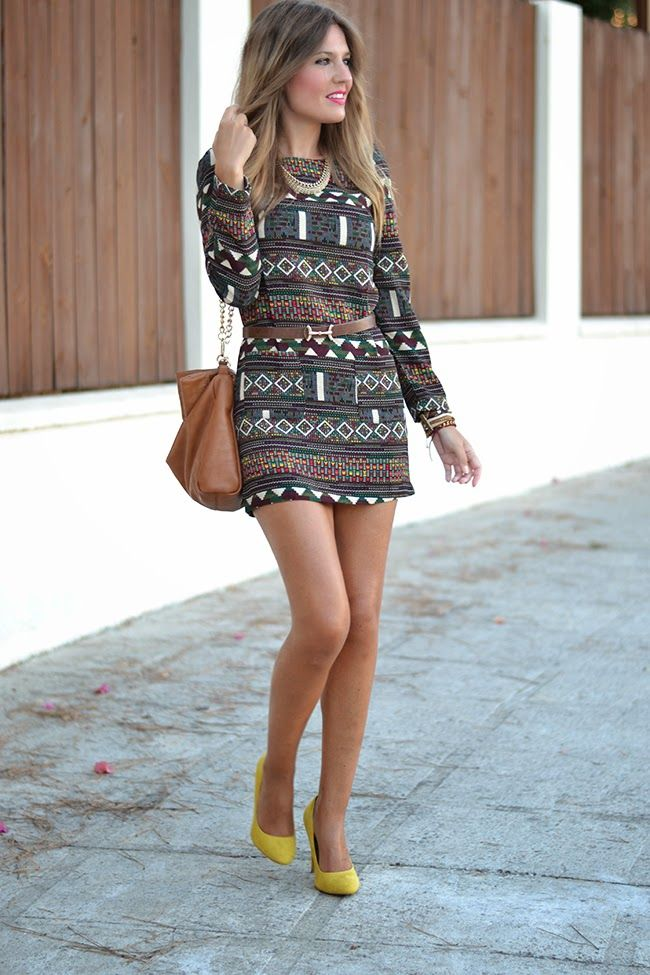 TRIBAL PATTERN DRESS   Mi aventura con la moda