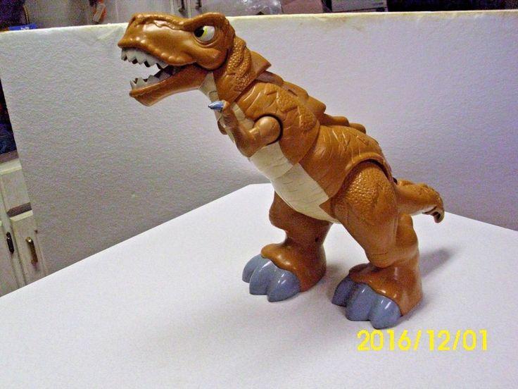 "Details about 2011 Fisher Price Mattel 19 "" Imaginext T-Rex Roaring & Moving Dinosaur EUC ..."