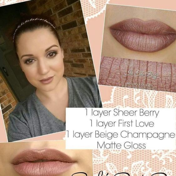 #SheerBerry #MatteGloss #FirstLove #BeigeChampagne #LipSense #LipServiceByLaura…