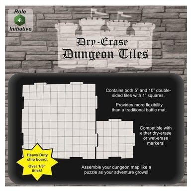 Dry Erase 5 and 10-inch Interlocking Dungeon Tiles - Combo Pack