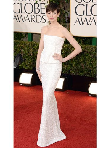 my favorite look from the #GoldenGlobe: Anne Hathaway in #Chanel. #fashion