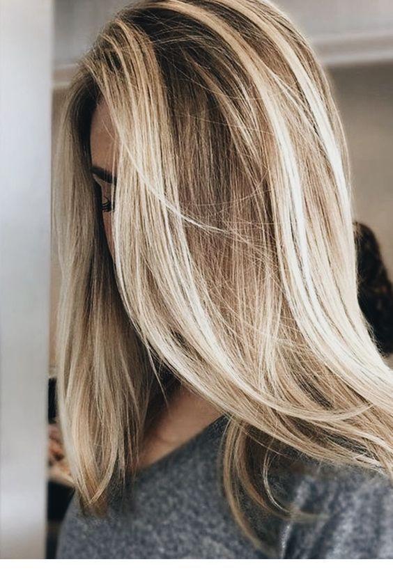 Braun strähnen blond Kurze Braune