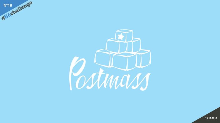 #Bechallenge | No.18 | POSTMASS on Behance