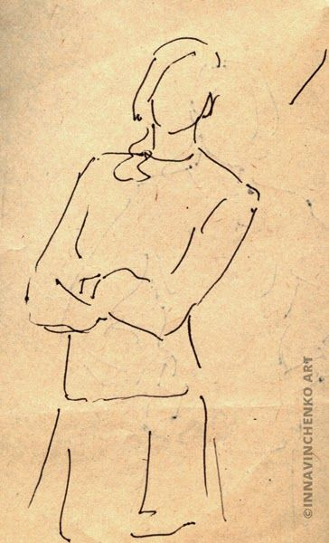 School times series - figure of a #girl #sketch http://vinchenko.blogspot.com/2014/08/when-started-my-love-for-sketching.html