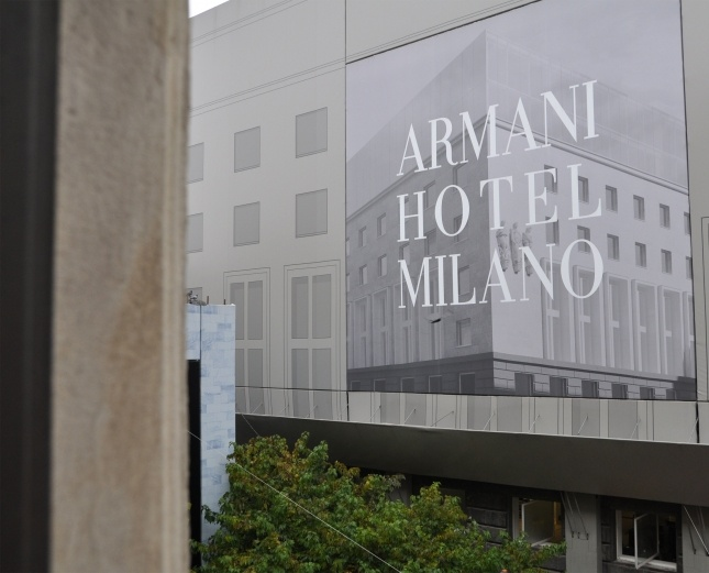 Now Armani Hotel in Milano Italy
