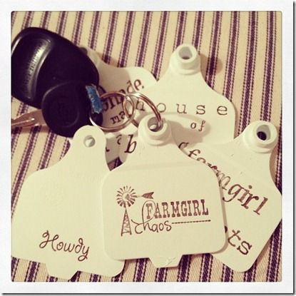 Cattle tag key chains!  (Finally pinning my creation to my own board!)