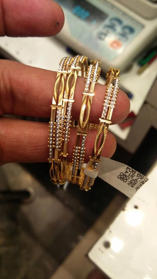 50 Grams Gold Bangles Sets, Four Gold Bangles in 50 Grams, 4 Gold Bangles set in 50 Grams.