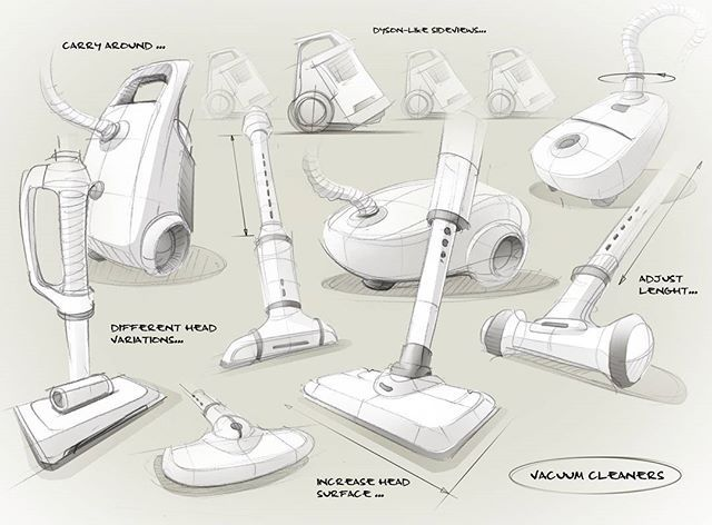 some quick vacuum cleaner sketches I put together to a little sketchpage in photoshop.