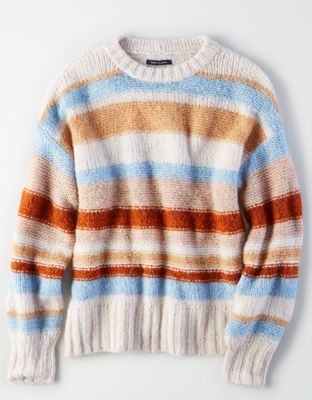 12cd81fa53 AE Multi-Stripe Pullover Sweater by American Eagle Outfitters