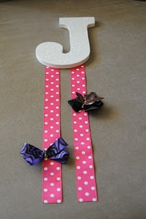 Bow Holders- DONE!! I got the letter from Hobby Lobby, Paint from