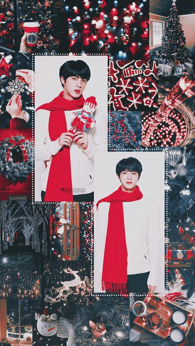 Bts Merry Christmas Bts Christmas Bts Wallpaper Seokjin Bts