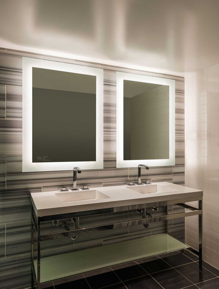 Sail Surface Mount LED Mirror by PureEdge Lighting SAIL