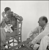 ITALY. Forio d'Ischia. Wystan AUDEN and Pavel TCHELICHEV during their stay at the artist colony. 1950.
