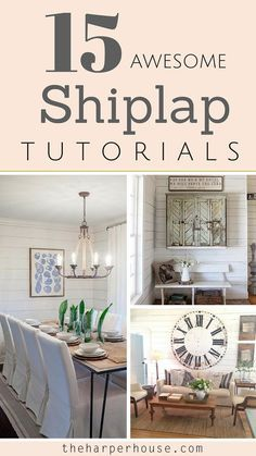 Would you like to install shiplap like you've seen on Fixer Upper? I've rounded up the 15 BEST shiplap tutorials from your favorite bloggers! #shiplap   The Harper House