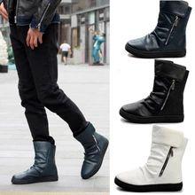 Yeni Kış erkek botlar sıcak kış kar botları ayak bileği botlar erkekler ücretsiz gönderim LS115 için Fermuar Erkekler Flats çizme kayma Erkek ayakkabı (Çin (Anakara))