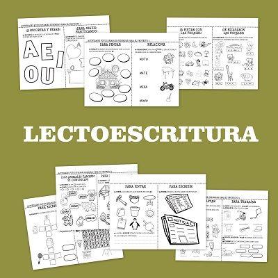Fichas de lectoescritura para educación infantil