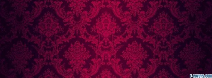 red and black damask facebook cover