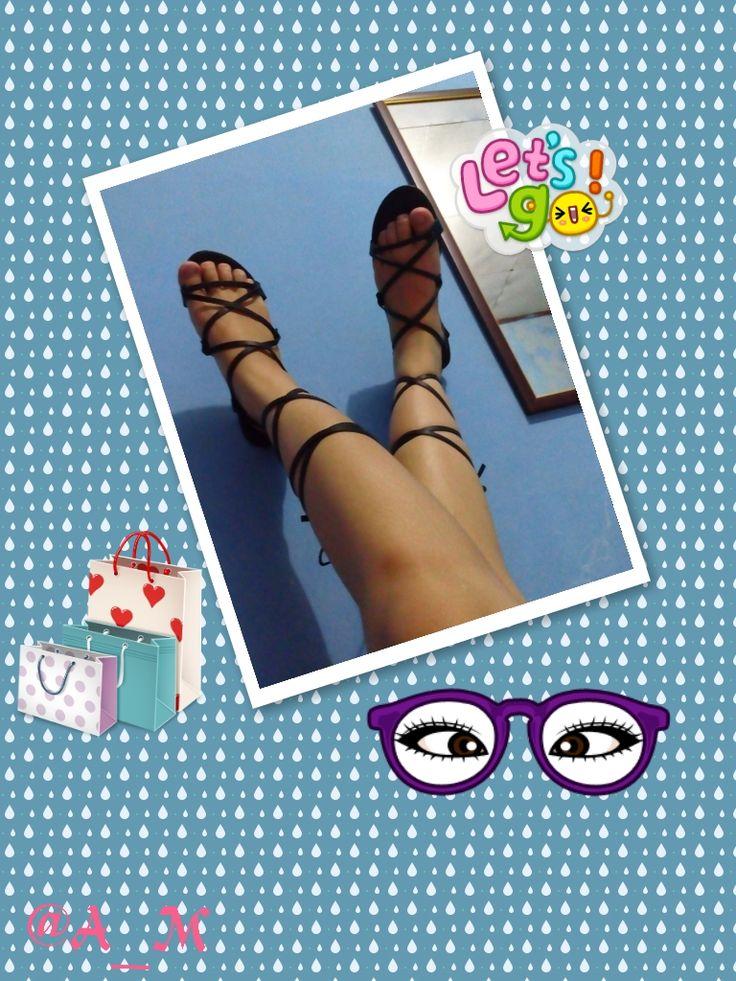 #Strappy #Gladiator #sandals #Black #Footware